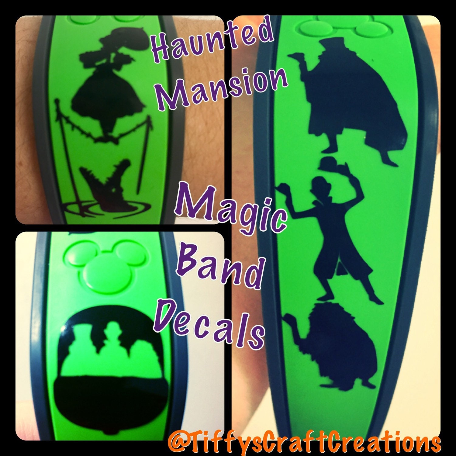 haunted mansion magic band vinyl decals free shipping. Black Bedroom Furniture Sets. Home Design Ideas