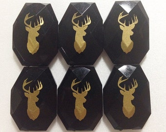 Gold Deer Head Bangle Beads in 19 Color Choices! Faceted, Gorgeous Beads - Pick your color!