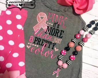 Awareness Embroidery design, Pink it's more than a color, Pink ribbon applique, Cancer awareness, socuteappliques, breast cancer awareness