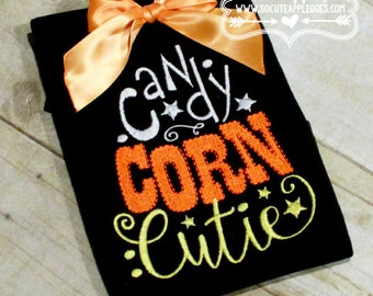 Embroidery design 5X7 6x10 Candy Corn Cutie embroidery, Halloween embroidery, socuteappliques, Candy Corn Cutie embroidery wordart