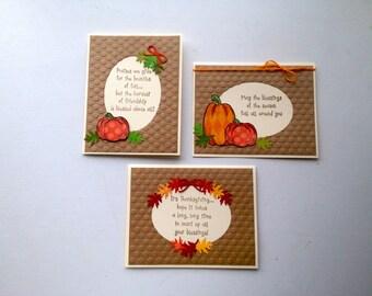 Thanksgiving Card set, Fall card set, Autumn card set