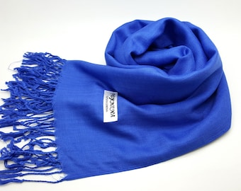 Wedding cover up/ scarf pashmina/ bridal accessories/ bridesmaids gifts/ prom/ gift/ Shawl/ ROYAL BLUE pashmina