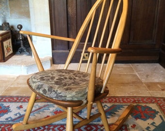 Antique Ercol Windsor Quaker Style Rocking Chair Shabby Chic Vintage Retro