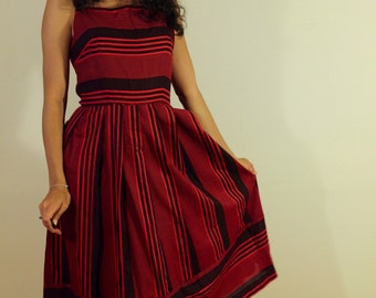 Red and Black Summer/ Fall  Dress