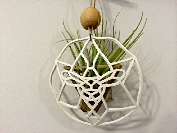 Air plant holder sacred bee geometric air plant holder for Geometric air plant holder