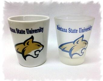"Montana State University ""Bobcats"" Shot Glass _ New Logo"