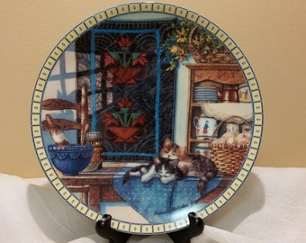 Lazy Morning - Cozy Country Corners Knowles China Company Collector's Plate