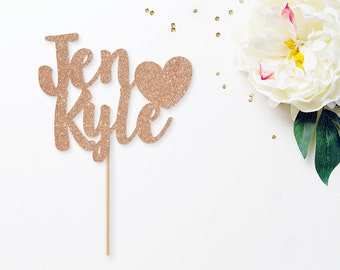Personalized Wedding Cake Topper, Wedding Cake Topper, Mr & Mrs Cake Topper, Custom Name Cake Topper, Engagement Decor, Bridal Shower Decor