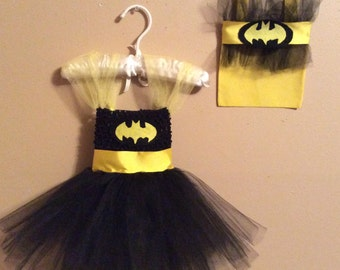 Infant, Baby, Toddler Bat Girl Halloween Costume with Matching Treat Bag