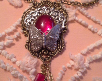 Fanciful Flight Butterfly Necklace N162