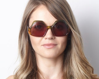 Genuine Original 1980's Marwitz sunglass NOS Green and Amber Eyeglass Germany