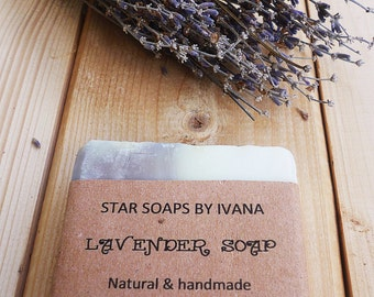 LAVENDER SOAP - Handmade Lavender Soap - Lavender essential oil - All Natural Soap with Lavender - Homemade lavender soap - Organic soap