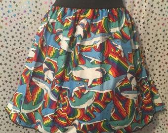 Rainbow Shark Skirt