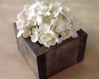 Rustic Wood Flower Box. Rustic Wood Box. Wood Flower Box. Wood Planter Box. Wood Box Centerpiece