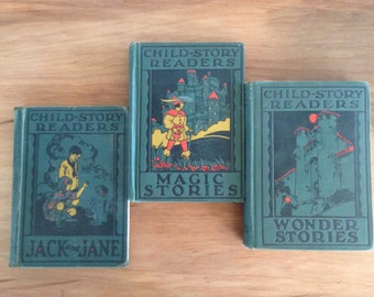 Vintage California State Series Child Story Readers Set Volumes 1, 2, and 3