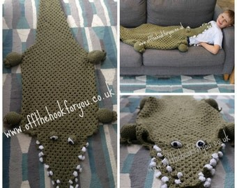 Eaten by  a Crocodile / Alligator ( Crochet PATTERN)