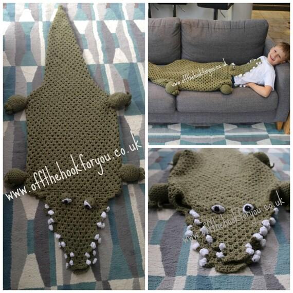 Free Crochet Patterns Shark Blanket : Eaten by a Crocodile / Alligator Crochet PATTERN