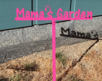 Large Mama's Garden Sign (II2l--) - Metal Sign