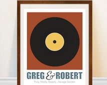 Gay Wedding Gift - Wedding Song Print - Vinyl Record Art Print - Personalized Song Art Print - Gay Marriage Gift