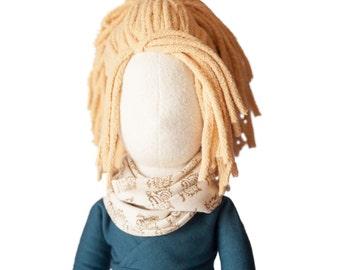 "Organic Waldorf Doll Eco Friendly and Ethically Made 25,"" Organic DOll, Art Doll, Rag Doll"