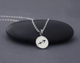 Sagittarius Necklace Sterling Silver Sagittarius Zodiac Charm Pendant, Zodiac Jewelry, Astrological Jewelry