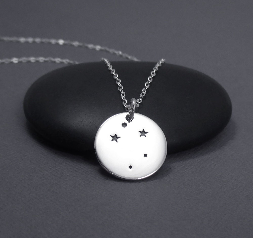 libra constellation necklace sterling silver libra