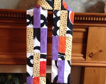 Scarf. Cotton patchwork with fringing