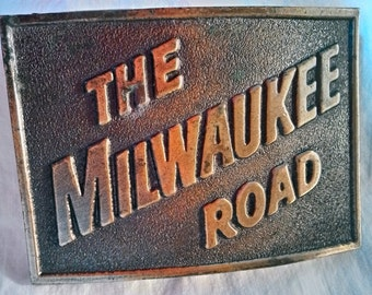 The Milwaukee Road Belt Buckle Collectable No 1