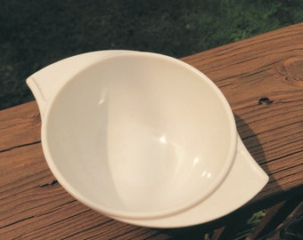 Vintage 1950s Boonton Winged Sugar Dish - White