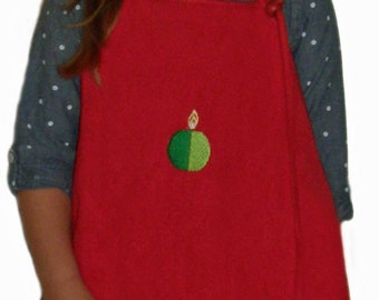 "Kool Katcher Clothing Protector (NOT a Bib!) for ""Kool"" Kids! - Holiday Red"