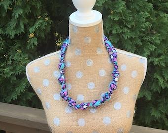 Kaleidoscope Teething Necklace / Fabric Necklace / Nursing Necklace