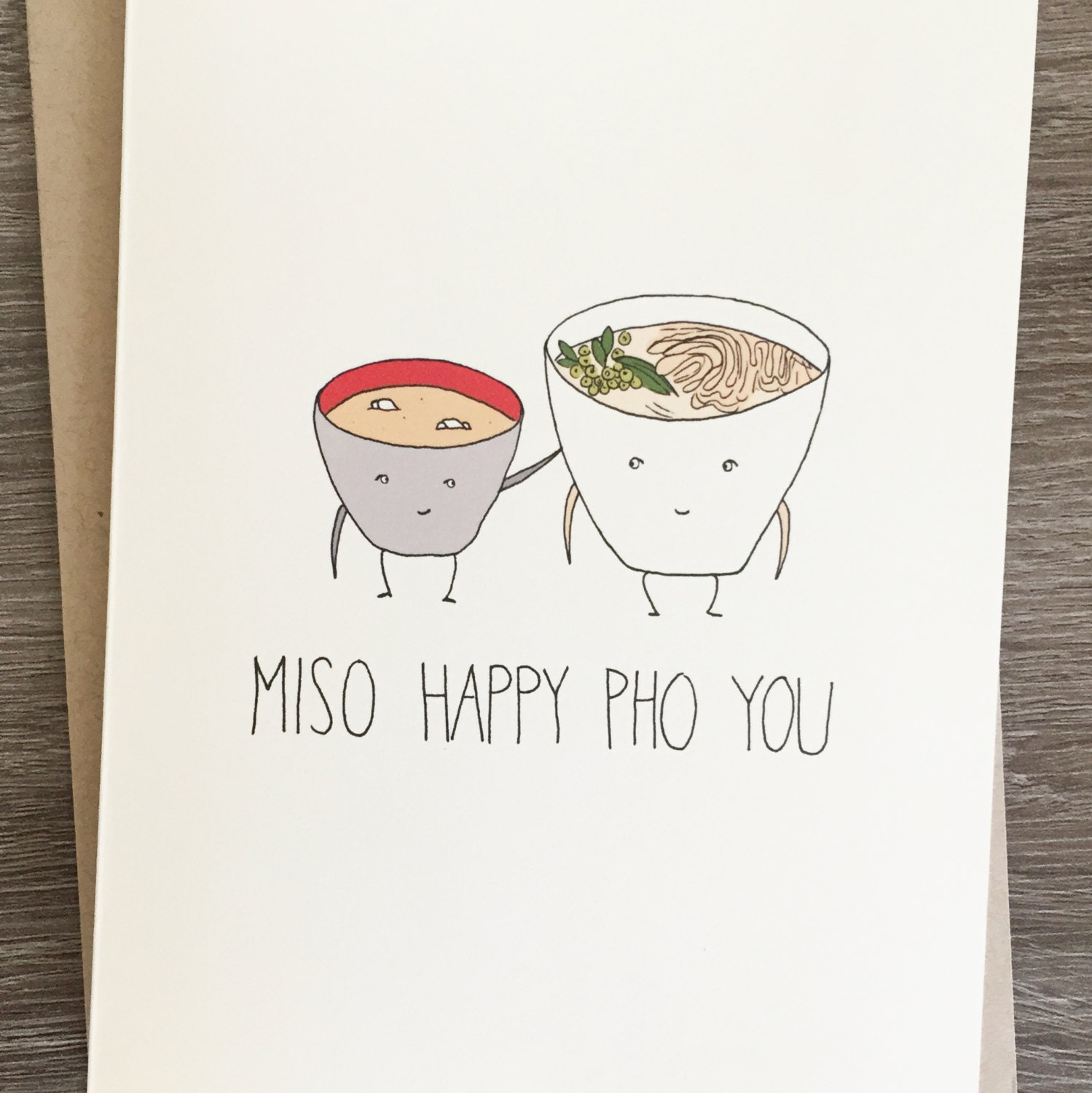 Miso Happy Pho You Congratulations Card Funny