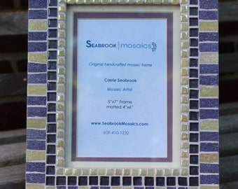 Purple and Ivory - Mosaic Picture Frame