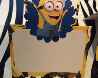 Minions food tent/placecards-set of 12
