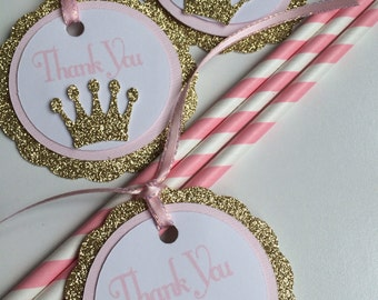 "Pink and Gold, ""Thank You"", Tags (12 Pieces)"