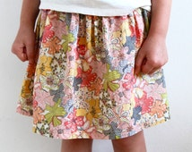 Liberty of London girl's skirt, twirly skirt, flowers, toddler skirt, baby skirt, cotton, Liberty, handmade in Amsterdam!