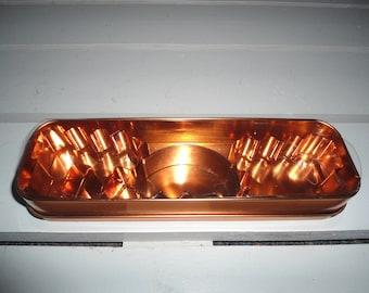 Vintage Copper Cookie Cutters in a Copper Case
