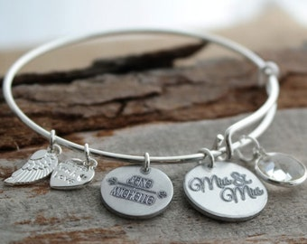 Mrs & Mrs LGBT Personalized Adjustable Wire Bangle Bracelet