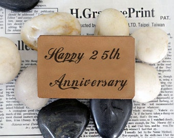 Custom Happy Anniversary Wallet Insert Card,Engraved Leather Wallet Insert Card,Anniversary Gift,Message Wallet Card, Father's Day Gift