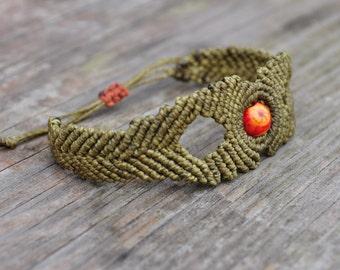 Macrame bracelet. Cappadocia with bicycle/Tribal bracelet.