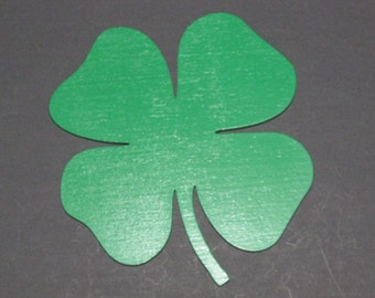 Shamrock Green 4 Leaf Clover Laser Cut Wood wall Decor Art