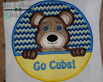 Bears Circle Applique ~ Bears Mascot ~ Instant Download