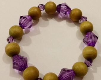 Green and purple bracelet