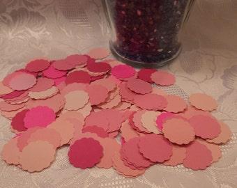 1 inch scalloped circle, scrapbookingbits, Embellishments, die cut, punches, crafts, confetti, 200 PC