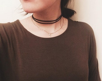 Minimalistic Leather Choker (Double-Strap)