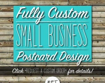 Custom Business Postcard Design | Etsy Shop Essentials | Small Business Marketing Tools | Unique, Made to Order | Digital File Printable