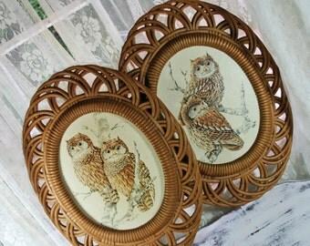 Wicker Owl Etsy