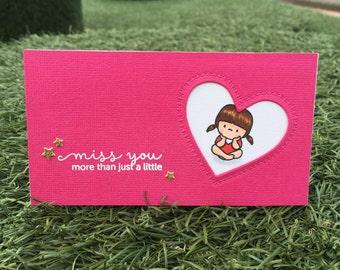 I MISS YOU Card | Handmade