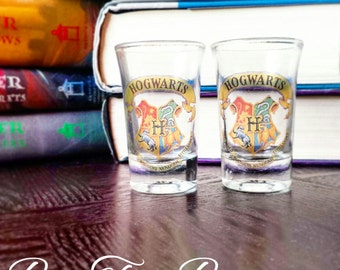 Harry Potter Shot Glasses | Hogwarts | Hogwarts School of Witchcraft and Wizardry | Gifts for him | Gifts for her | Vintage