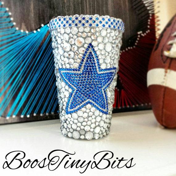 Dallas Cowboys Bedazzled Rhinestone Tumbler Cups